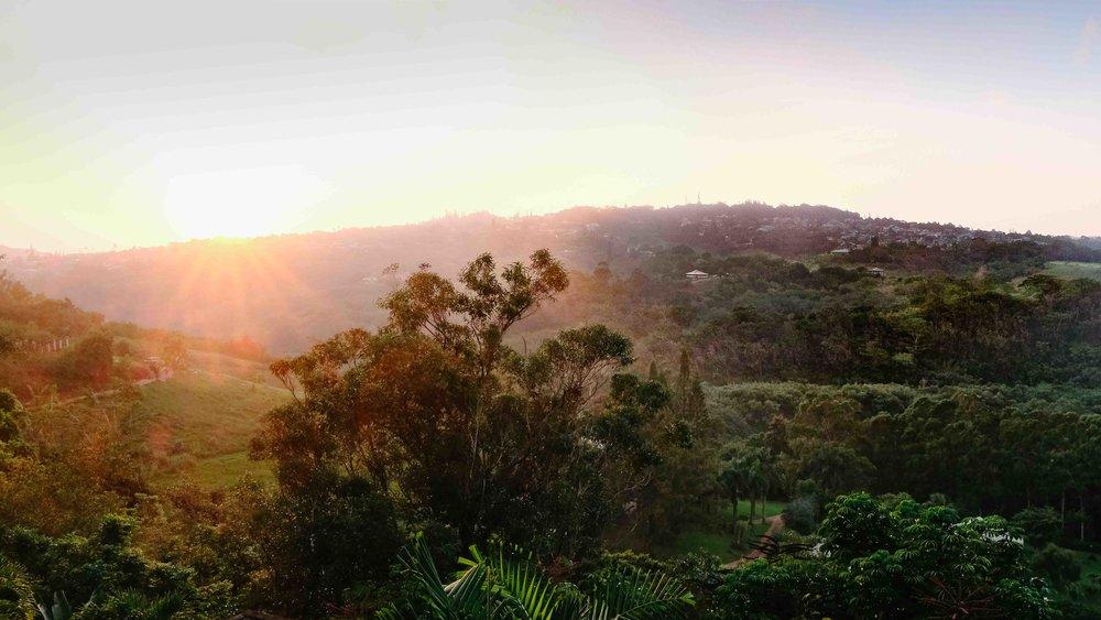 Sunset view from Marjorie's Kauai Inn