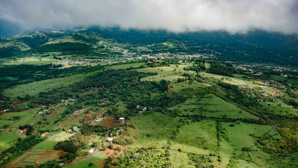 Aerial views of Kauai from the helicopter