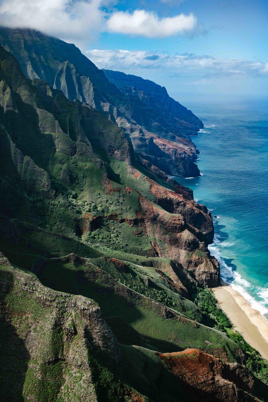 The Na Pali Coast Kauai