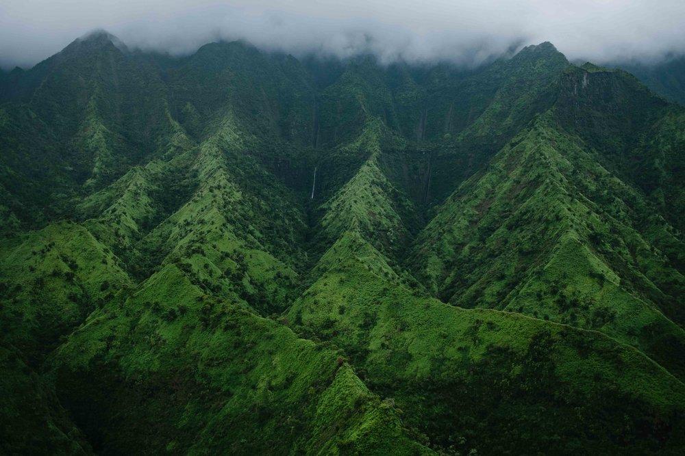 The iconic ridges of Kauai