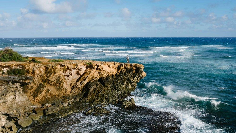 Rock formation near Shipwreck Beach