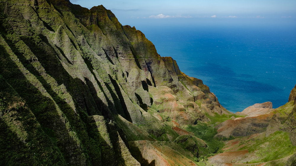 Flying through the Na Pali Coast State Park