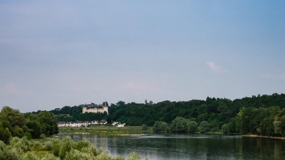The Château de Chaumont with an empty blue sky