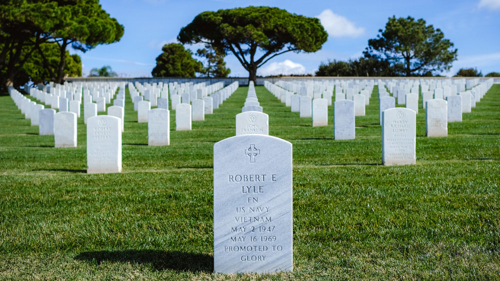 "A young soldier's headstone at Fort Rosecrans National Cemetery, San Diego - travel photography and guide by © Natasha Lequepeys for ""And Then I Met Yoko"". #sandiego #california #travelguide #photoblog #travelblog #usa #sealions #fujifilm #travelphotography #landscapephotography #naturephotography #travelitinerary #2dayssandiego #pwc #westcoast #nature #californiadreaming #pointloma #rosecranscemetery #lajolla"
