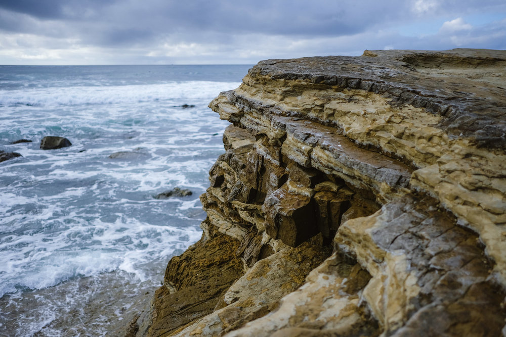 "Rock formations in the tide pools - San Diego travel guide by ""And Then I Met Yoko"". Photography by Natasha Lequepeys #travelphotography #travelblog #sandiego"