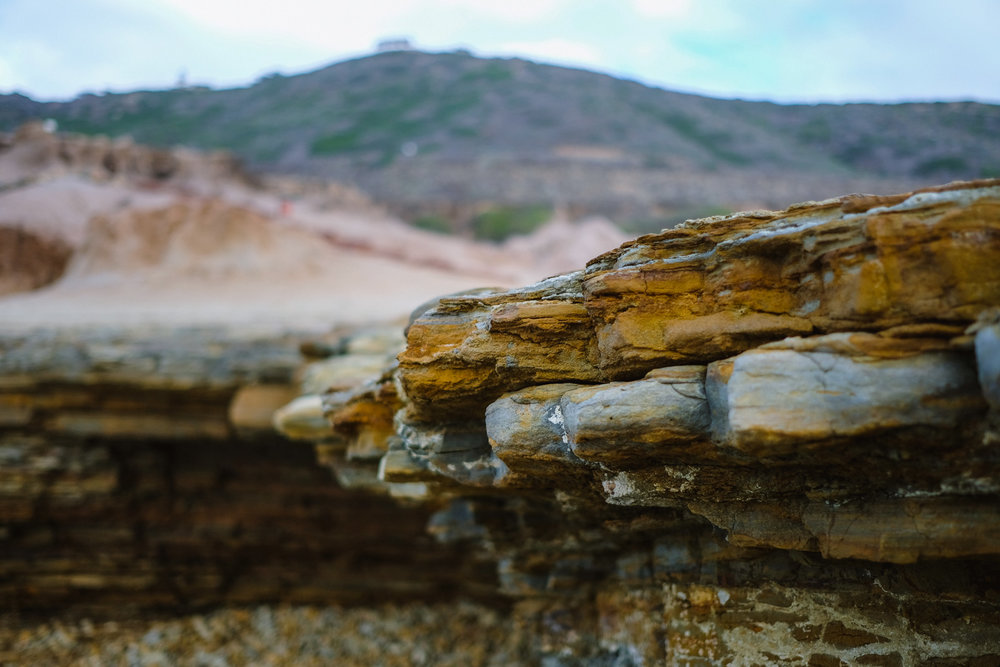 "Layers of rock - San Diego travel guide by ""And Then I Met Yoko"". Photography by Natasha Lequepeys #travelphotography #travelblog #sandiego"