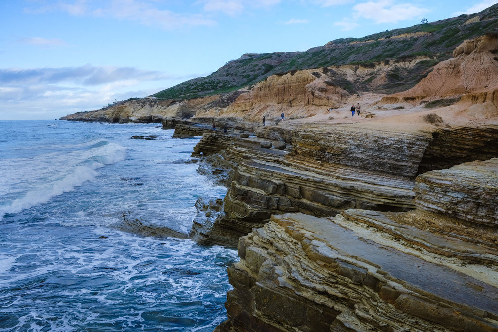 "Walking along the tide pools during high tide - San Diego travel guide by ""And Then I Met Yoko"". Photography by Natasha Lequepeys #travelphotography #travelblog #sandiego"
