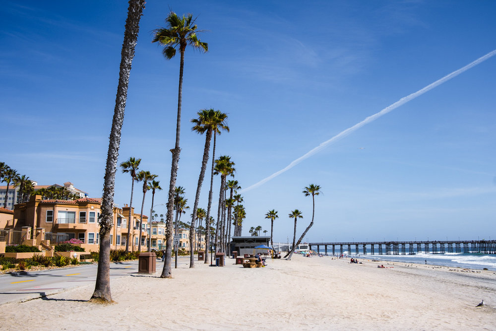 "Oceanside Beach - San Diego travel guide by ""And Then I Met Yoko"". Photography by Natasha Lequepeys #travelphotography #travelblog #sandiego"