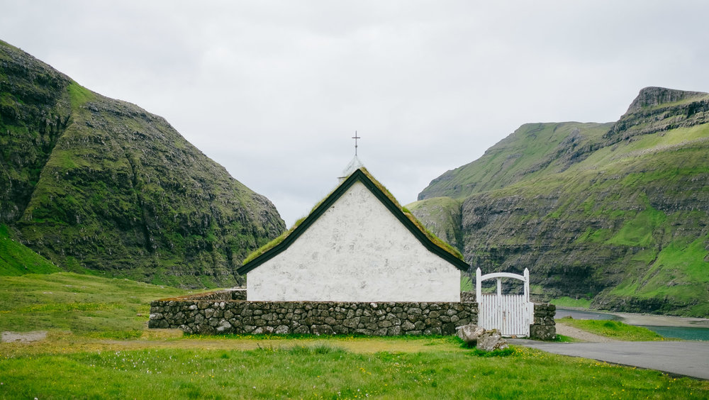 The white church in Saksun