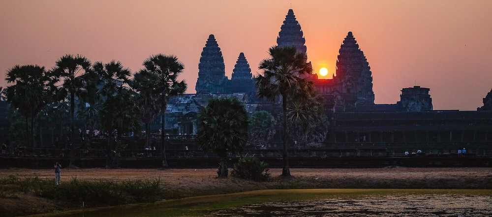 """Sunrise over Angkor Wat on a full-day private tour with Happy Angkor Wat, Siem Reap. Travel photography and guide by © Natasha Lequepeys for """"And Then I Met Yoko"""". #siemreap #angkorwat #taprohm #travelguide #travelblog #travelitinerary #itinerary #siemreapitinerary #seasia #cambodia #travelcambodia #travelsiemreap #photoblog #travelblogger #travelphotography #landscapephotography #fujifilm #temples #siemreapprivatetour #atv"""