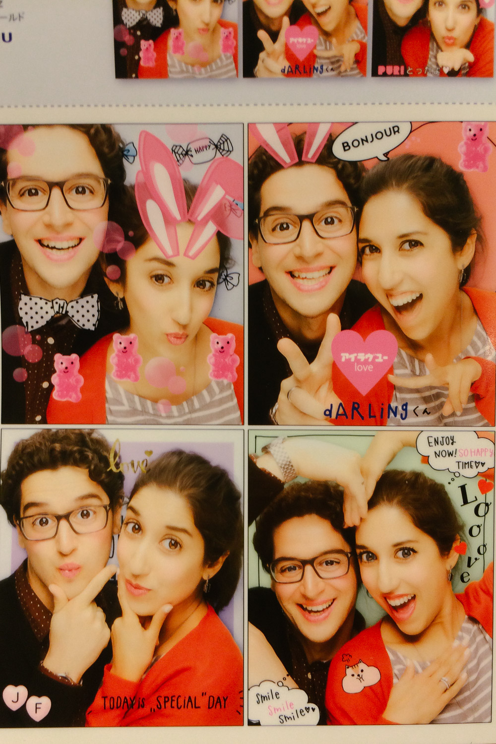 "Enjoying the purikura photobooth in Japan. Travel photography and guide by © Natasha Lequepeys for ""And Then I Met Yoko"". #japan #japanitinerary #tokyo #osaka #travelblog #travelphotography #landscapephotography #travelitinerary #fujifilm #kyoto #nara #oaska #travelguide #asia #foodphotography #japantravel #japanfood #ryokan #cherryblossom #springtravel"