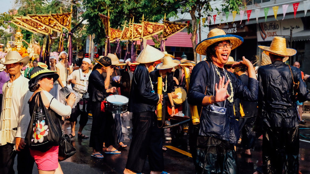 "Songkran parade, Chiang Mai. Travel photography and guide by © Natasha Lequepeys for ""And Then I Met Yoko"". #thailand #travelguide #travelphotography #streetphotography #itinerary #fujifilm #songkran"