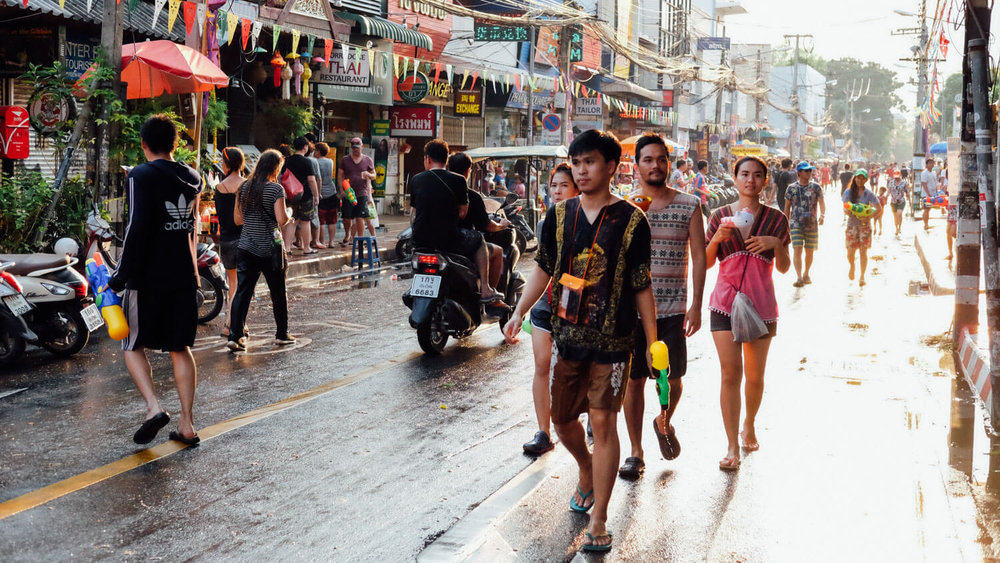 "Songkran, Chiang Mai.     Travel photography and guide by © Natasha Lequepeys for ""And Then I Met Yoko"". #thailand #travelguide #travelphotography #streetphotography #itinerary #fujifilm #songkran"