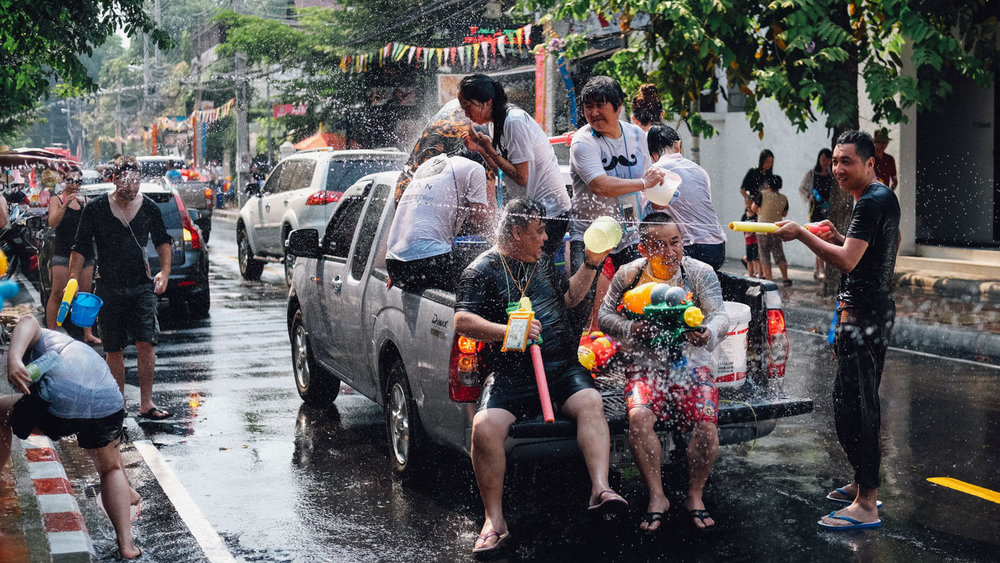 "Songkran festival (Thai new year) in Chiang Mai, Thailand. Travel photography and guide by © Natasha Lequepeys for ""And Then I Met Yoko"". #thailand #seasia #travelguide #photoblog #travelblog #travelphotography #landscapephotography #travelitinerary #fujifilm #krabi #bangkok #chiangmai #pattaya #celebration #streetparty #waterfight #beachvacation #streetphotography #honeymoon #songkran"