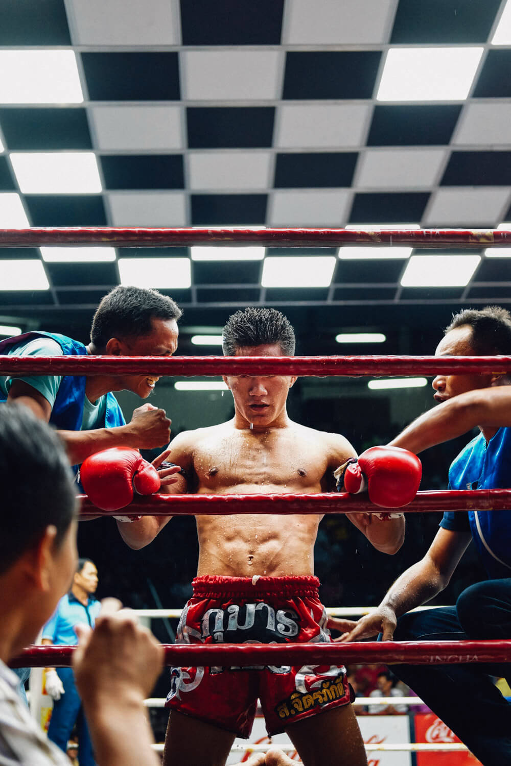 "Muay Thai fighter, Bangkok. Travel photography and guide by © Natasha Lequepeys for ""And Then I Met Yoko"". #thailand #travelguide #travelphotography #travelitinerary #fujifilm #muaythai"