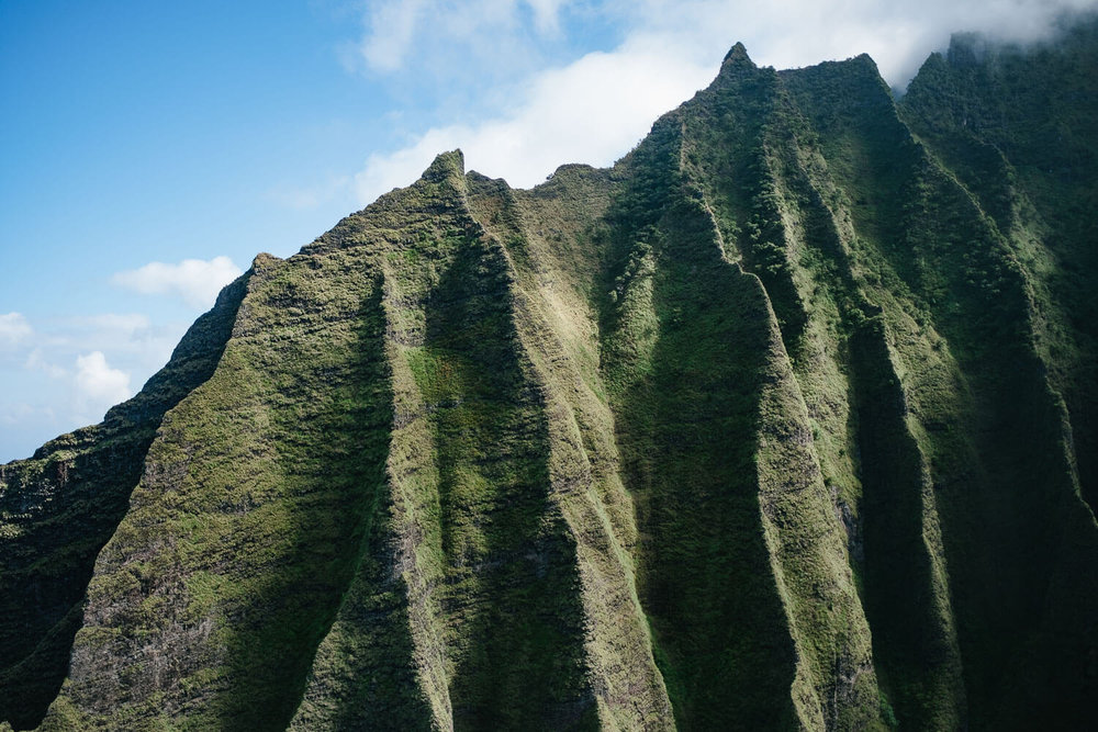 Kauai mountain ridges