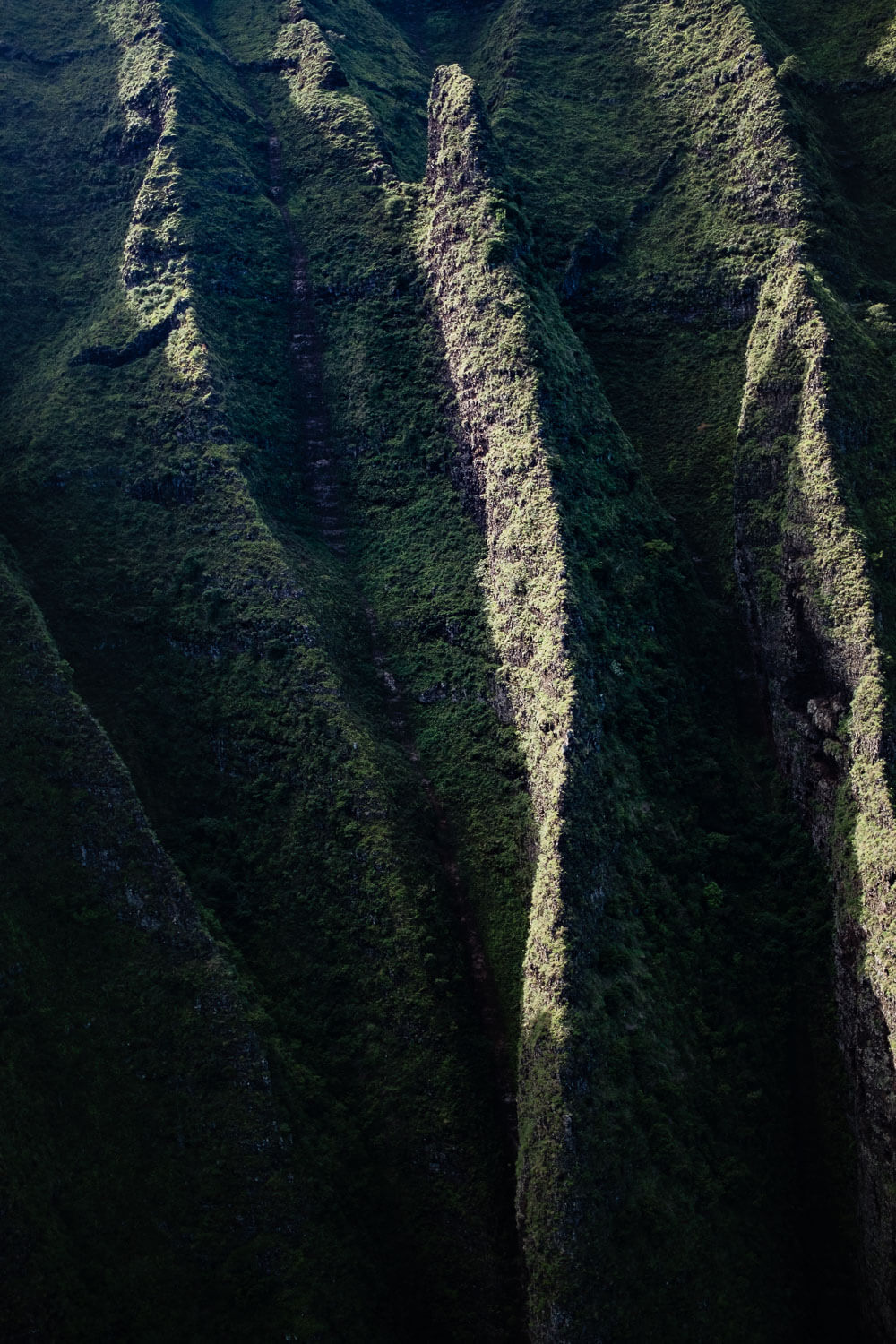 """Close up of the ridges. Travel photography and guide by © Natasha Lequepeys for """"And Then I Met Yoko"""". #hawaii #travelguide #photoblog #travelblog #landscapephotography #fujifilm"""