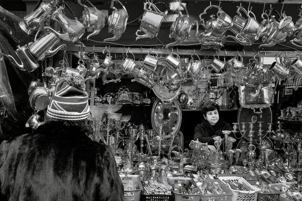 Silver Trinkets at Portobello Market