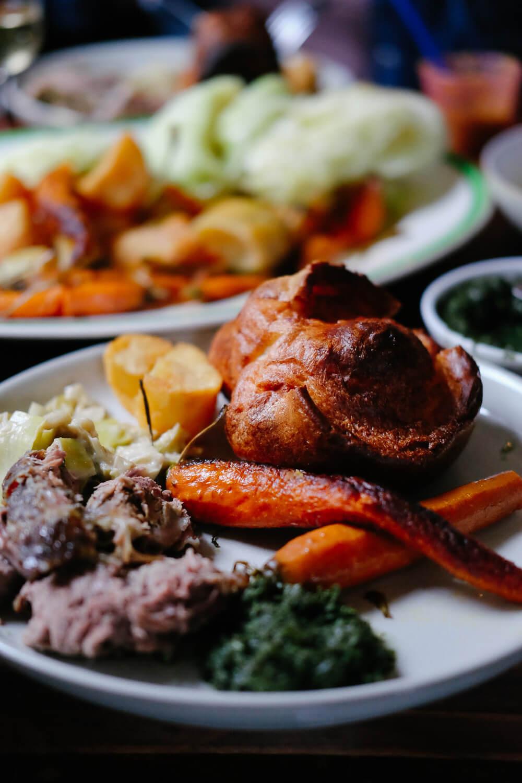 Lamb and Yorkshire Pudding Sunday Roast at the Royal Oak