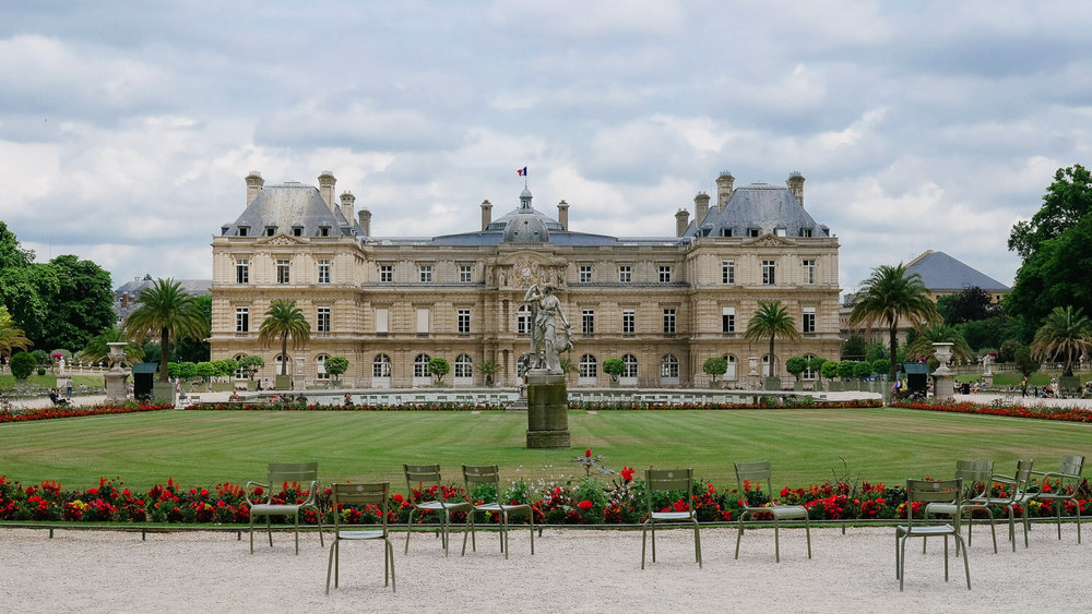 The Jardin Luxembourg in Paris