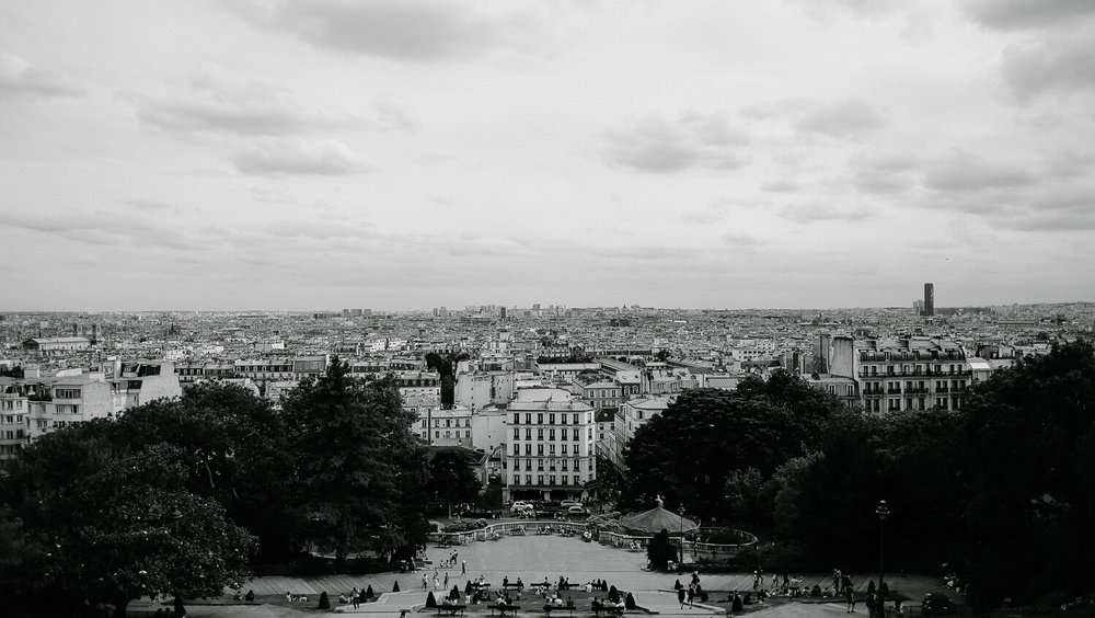 """View of Paris from Montmartre. Travel photography and guide by © Natasha Lequepeys for """"And Then I Met Yoko"""". #paristravel #photoblog #travelguide #france #parisitinerary"""
