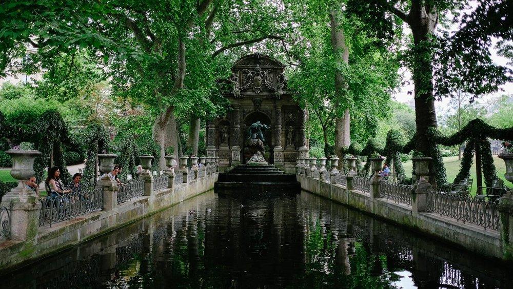 The Fontaine De Marie De Médicis in the Jardin Luxembourg, Paris