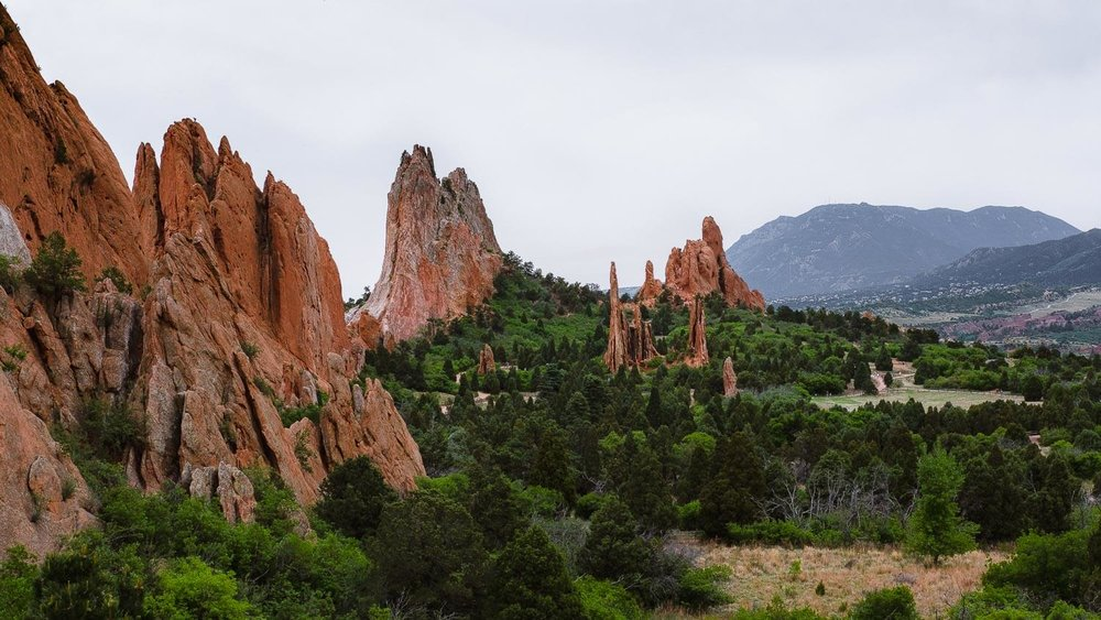 "The Garden of the Gods, Colorado Springs. Travel photography and guide by © Natasha Lequepeys for ""And Then I Met Yoko"". #colorado #usa #denver #redrocks #geology #coloradosprings #travelguide #photoblog #travelblog #travelphotography #landscapephotography #coloradoitinerary #fujifilm #hiking #nature #wildlifephotography #getoutdoors #deer #nationalpark #gardenofgods"