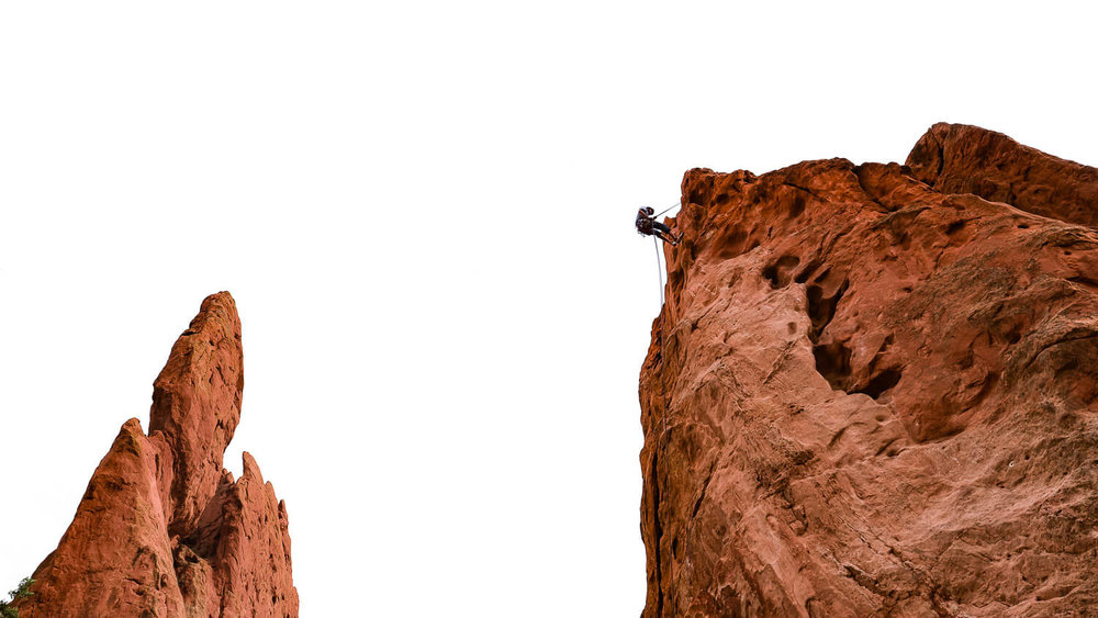 "Rock Climbers, Garden of the Gods.  Travel photography and guide by © Natasha Lequepeys for ""And Then I Met Yoko"". #colorado #usa #coloradosprings #travelguide #coloradoitinerary #fujifilm"