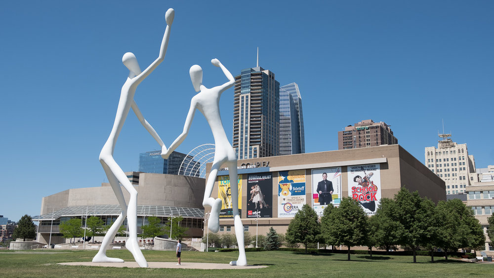 White alien statues in Denver