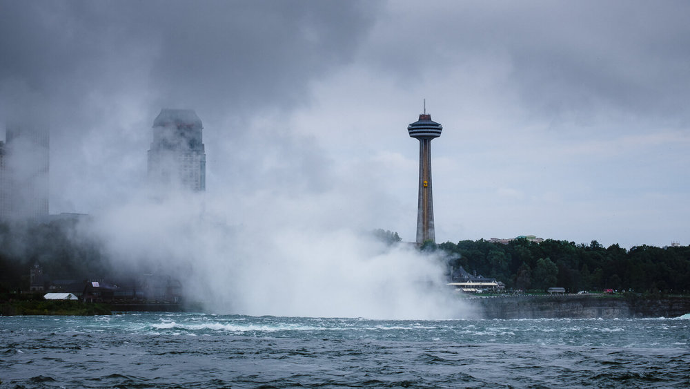 "The Skylon Tower, Niagara Falls. Travel photography and guide by © Natasha Lequepeys for ""And Then I Met Yoko"". #ontario #canada #travelblog #niagaraphotography #travelitinerary #fujifilm"