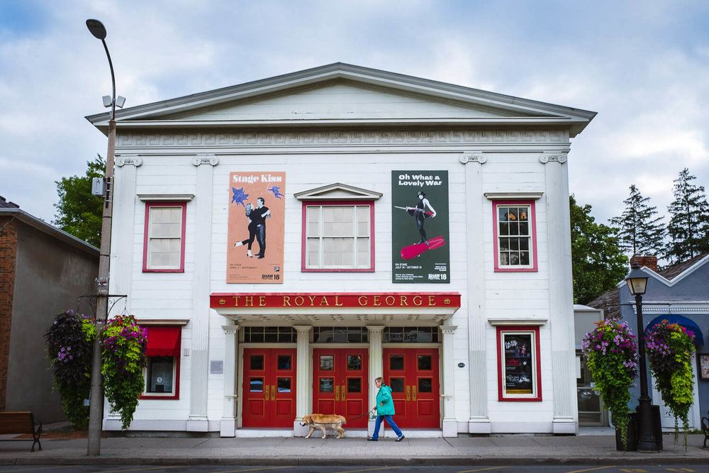 "The Royal George, one of the theatres that's part of the Shaw Festival, Niagara-On-The-Lake. Travel photography and guide by © Natasha Lequepeys for ""And Then I Met Yoko"". #niagara #shawfest #ontario #canada #discoverontario #niagaraonthelake #travelguide #photoblog #travelblog #travelphotography #theatre #travelitinerary #fujifilm #historictown #wineregion #royalgeorge #notl #travelblogger #niagaraitinerary #niagaraphotography"