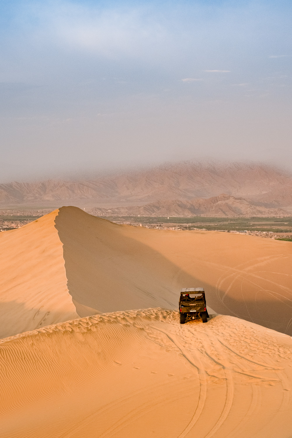 """Dune buggy in Ica, Peru. Travel photography and guide by © Natasha Lequepeys for """"And Then I Met Yoko"""". #huacachina #photoblog #travelblog #landscapephotography #fujifilm #blogger"""