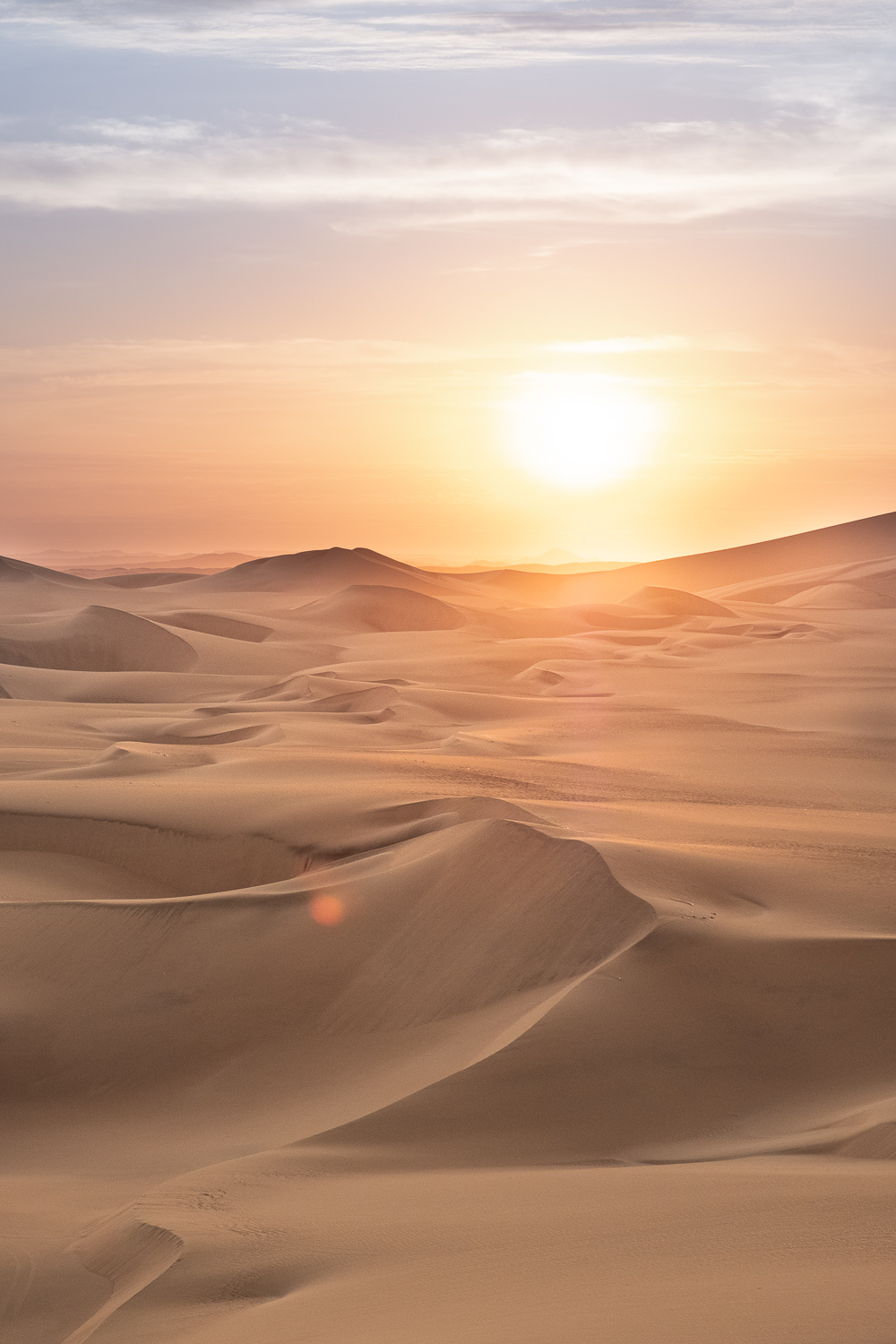 """Sunset in the desert of Ica, Peru. Travel photography and guide by © Natasha Lequepeys for """"And Then I Met Yoko"""". #huacachina #photoblog #travelblog #landscapephotography #fujifilm #blogger"""