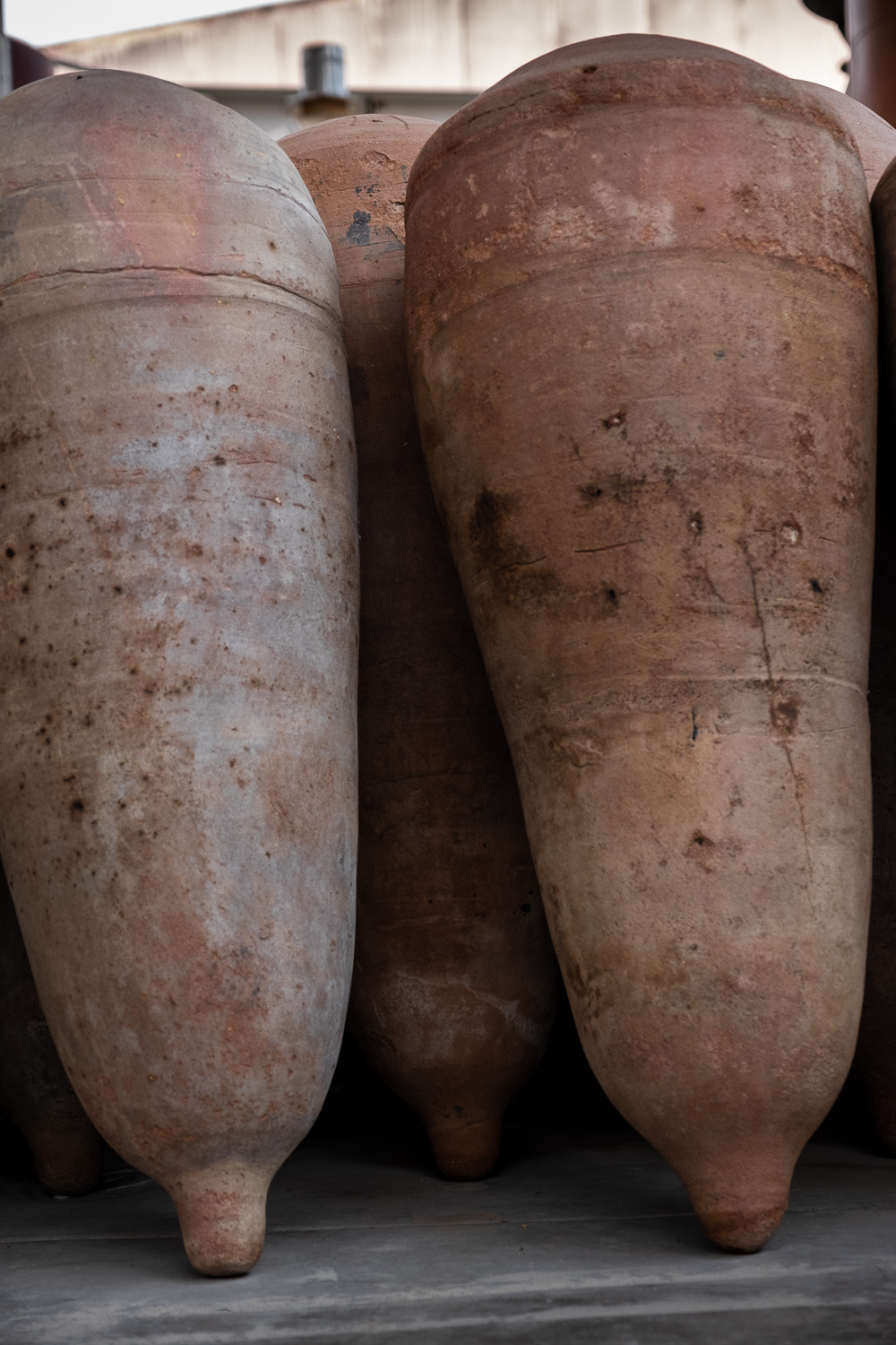 """Old clay containers for wine Tacama Winery in Ica, Peru. Travel photography and guide by © Natasha Lequepeys for """"And Then I Met Yoko"""". #huacachina #photoblog #travelblog #winery #fujifilm #blogger"""