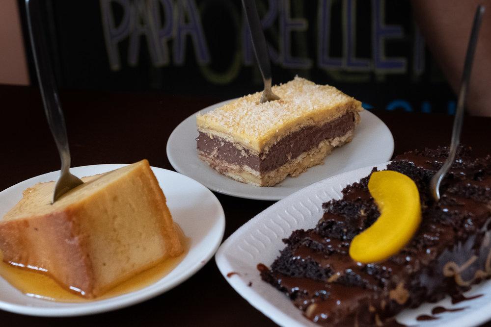 "Dessert in Ica, Peru. Travel photography and guide by © Natasha Lequepeys for ""And Then I Met Yoko"". #peru #ica #huacachina #photoblog #travelblog #travelphotography #yummy #travelitinerary #fujifilm #chocolate #restaurant #perufood #cake #food #foodphotography #dessert #foodie #caramel #travel #huacachinatours"