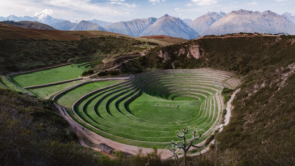 "The Terraces of Moray in The Sacred Valley, Peru. Travel photography and guide by © Natasha Lequepeys for ""And Then I Met Yoko"". #sacredvalley #peru #travelguide #photoblog #travelblog #travelphotography #landscapephotography #travelitinerary #fujifilm #southamerica #visitperu #foodie #incasights #machupicchu #cusco #ancientruins #incatrail #ValleSagrado #travel #hiking"