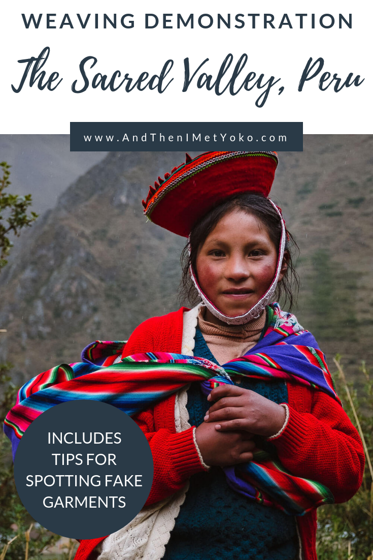 "Learn about the ancient weaving techniques that create beautiful Peruvian garments. Weavers of Patacancha, The Sacred Valley, Peru. Travel photography and guide by © Natasha Lequepeys for ""And Then I Met Yoko"". #peru #sacredvalley #patacancha #photoblog #travelblog #travelphotography #portraitphotography #travelitinerary #fujifilm #weaving #tradition #culture #people #andes #village #weavingdemonstration #cusco #ollantaytambo #travel #travelperu"