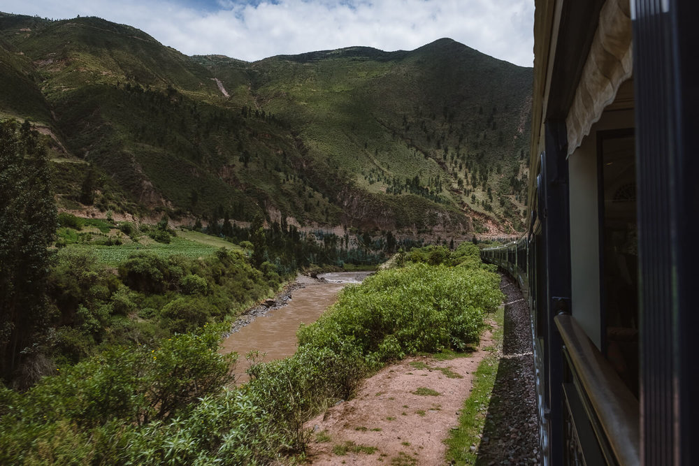 "Views of the Sacred Valley on the Belmond Andean Explorer. Travel photography and guide by © Natasha Lequepeys for ""And Then I Met Yoko"". #peru #sacredvalley #patacancha #photoblog #travelblog #travelphotography #portraitphotography #travelitinerary #fujifilm #weaving #tradition #culture #people #andes #village #weavingdemonstration #cusco #ollantaytambo #travel #travelperu"