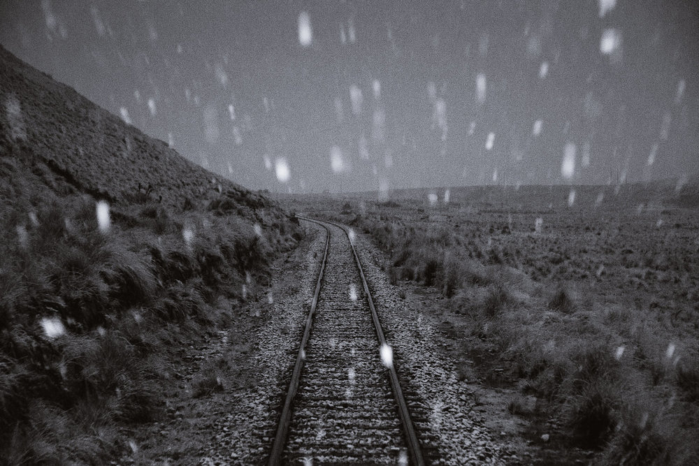 "A blizzard in the Andes on the Belmond Andean Explorer. Travel photography and guide by © Natasha Lequepeys for ""And Then I Met Yoko"". #peru #sacredvalley #cusco #laketiticaca #belmondandeanexplorer #perurail #perutrain #luxurytravel #sleepertrain #photoblog #travelblog #travelphotography #fujifilm #andes #travel #travelperu #cuscotolaketiticaca #spiritofthelake #belmond #puno #southamerica"