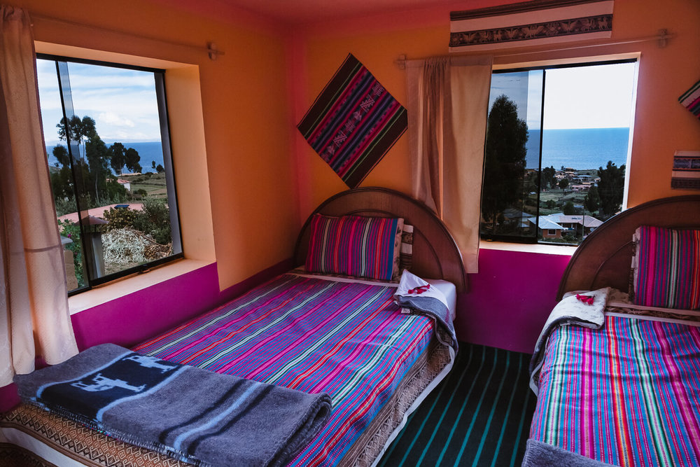 """Amantani homestay rooms, with a view of the water. Travel photography and guide by © Natasha Lequepeys for """"And Then I Met Yoko"""". #peru #laketiticaca #amantani #taquile #homestay #culturalexperience #photoblog #travelblog #travelphotography #fujifilm #travel #travelperu #southamerica #allwaystravel #laketiticacaitinerary #puno #uros #floatingislands #pachamama #pachatata"""