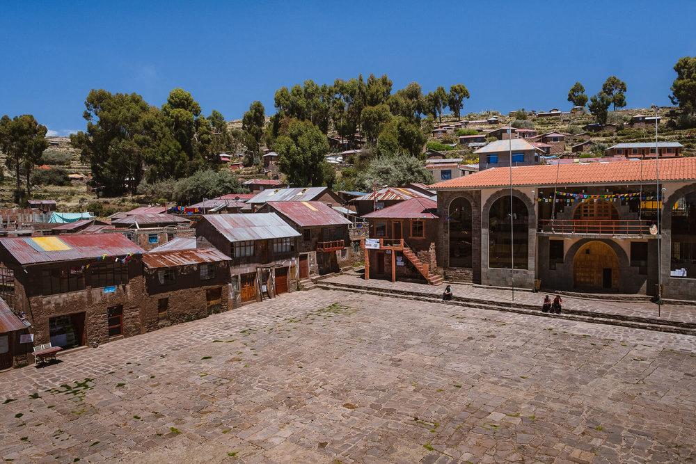 "The Main Square, Taquile Island. Travel photography and guide by © Natasha Lequepeys for ""And Then I Met Yoko"". #peru #laketiticaca #amantani #taquile #homestay #culturalexperience #photoblog #travelblog #travelphotography #fujifilm #travel #travelperu #southamerica #allwaystravel #laketiticacaitinerary #puno #uros #floatingislands #pachamama #pachatata"