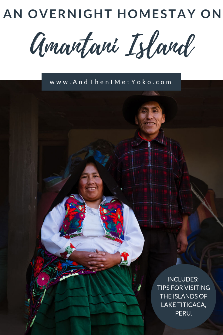 """My experience and tips for the Lake Titicaca 2-Day Tour and Amantani Homestay. Travel photography and guide by © Natasha Lequepeys for """"And Then I Met Yoko"""". #peru #laketiticaca #amantani #taquile #homestay #culturalexperience #photoblog #travelblog #travelphotography #fujifilm #travel #travelperu #southamerica #allwaystravel #laketiticacaitinerary #puno #uros #floatingislands #pachamama #pachatata"""