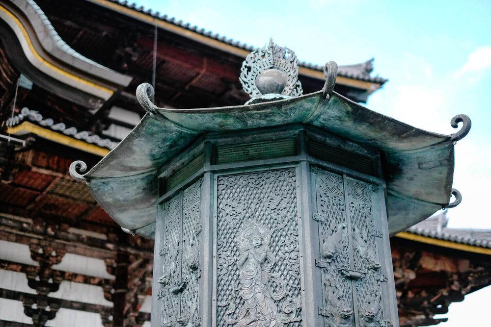 "Beautiful design in the Tōdai-ji temple in Nara. Travel photography and guide by © Natasha Lequepeys for ""And Then I Met Yoko"". #japan #japanitinerary #travelblog #fujifilm #asia"
