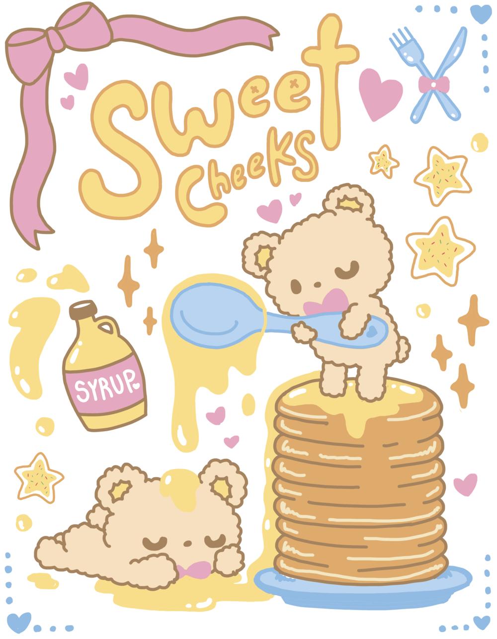 Sweet Cheeks Illustration