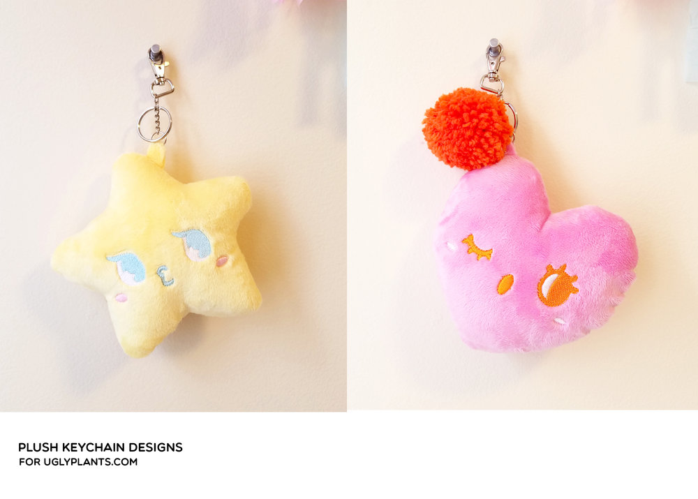 Original Plush Keychain Designs