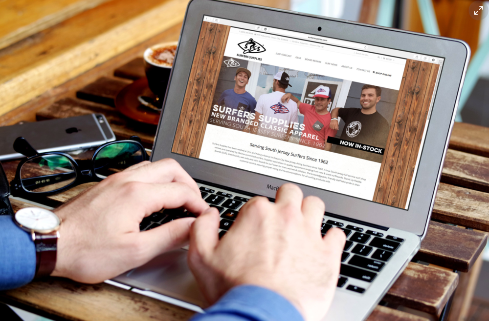 Website Design // Surfers Supplies