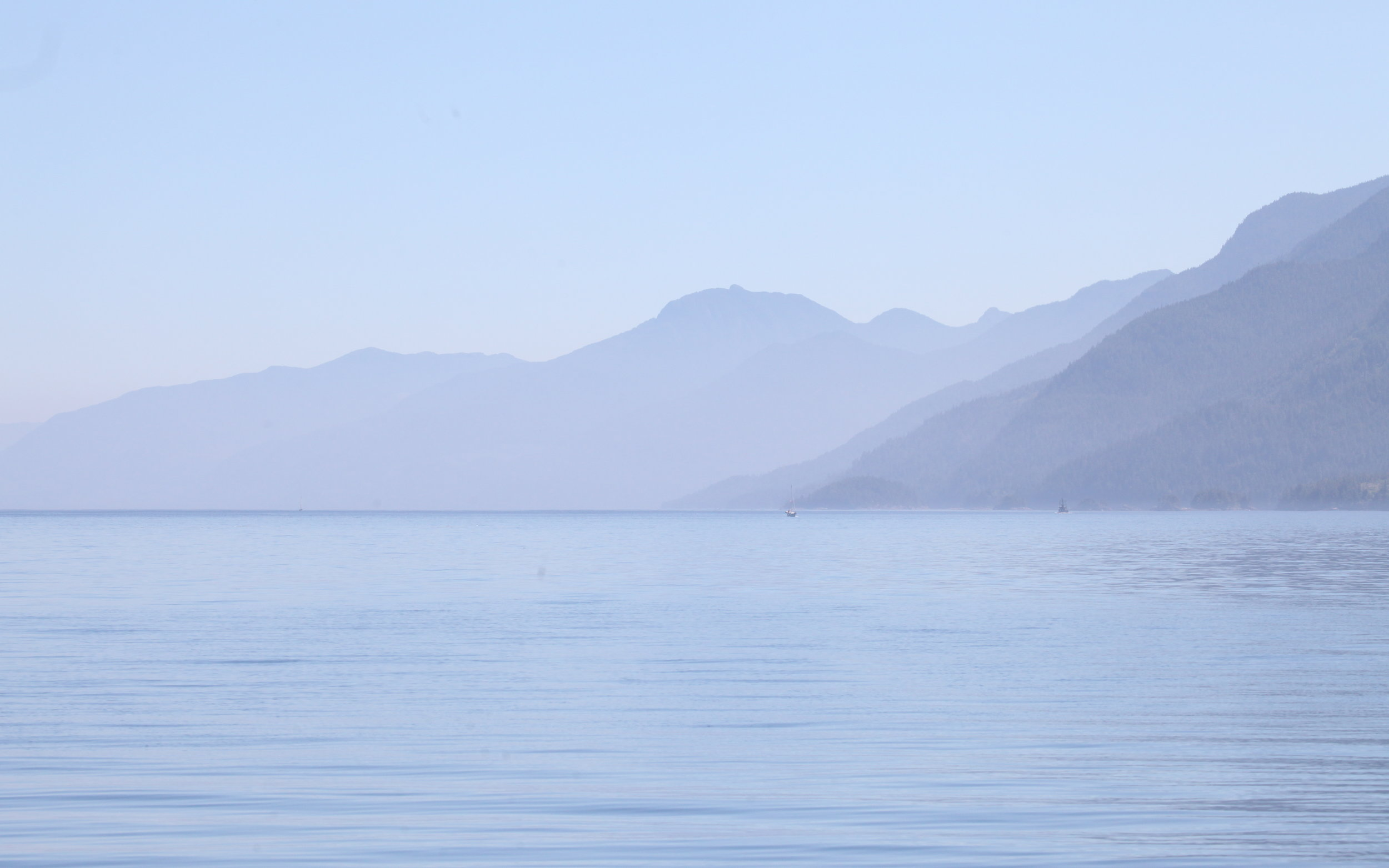 Looking down Johnstone Strait today!