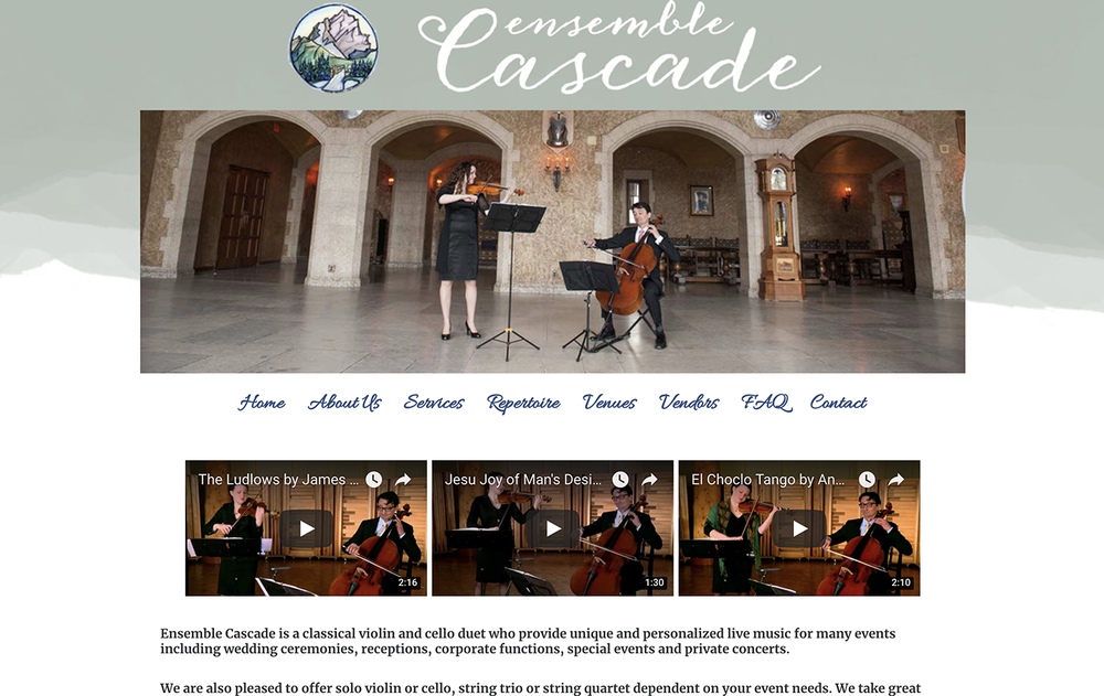 Ensemble Cascade Website Design