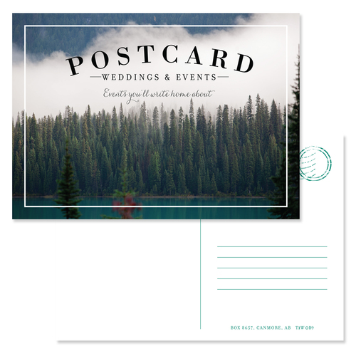 Wedding Planner Postcard Graphic Designer Calgary