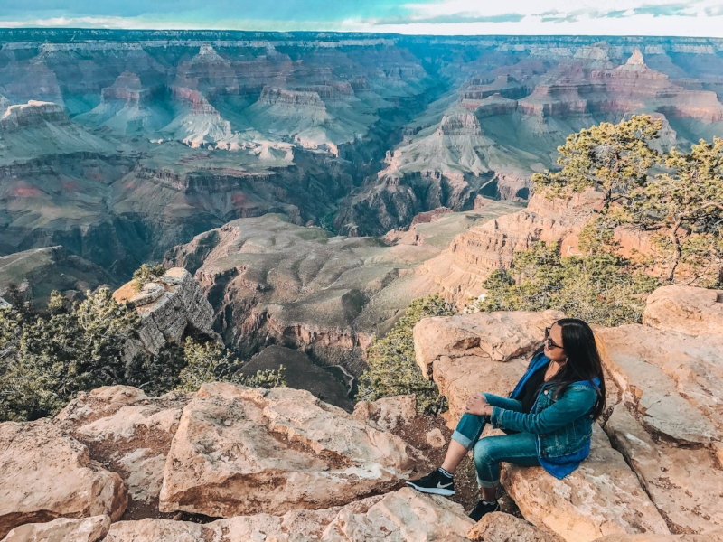 Grand Canyon, Arizona, USA  - Being a solo female traveler involves overcoming a lot of risks. As a solo traveler, fears must be conquered. I have extreme fear of heights. After facing it, the result will always be beautiful.